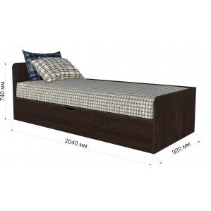 """Кровать """"Анеси-3"""" с подъемн. мех-м/ Венге/ 2040x920x740"""
