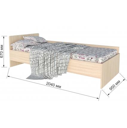 """Кровать """"Анеси-4""""/ Венге/ 2040x950x670"""