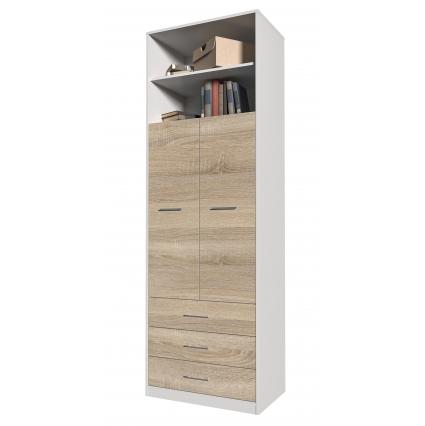 Шкаф комбинированный Innova-V01, Бетон/ Ш750 Г470 В2265