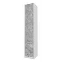 Шкаф комбинированный Innova-V02, Бетон/ Ш450 Г470 В2265