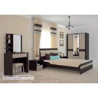 Спальня КОЛАМБИЯ-4 Дуб серый-Венге (из 4-х модулей)