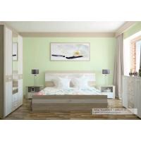 Спальня КОЛАМБИЯ-4 Дуб белый-Санома (из 4-х модулей)
