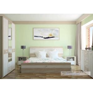 Спальня КОЛАМБИЯ-4 Дуб белый/Санома (из 4-х модулей)