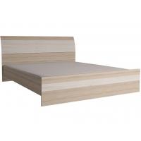 Кровать 180 КЛ-001-1 с основанием Дуб белый-Санома/ Ш1900 В999 Г2149
