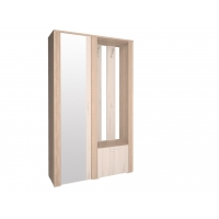 Шкаф с зеркалом и вешалкой КЛ-14 Дуб белый/Санома