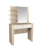 Стол КЛ-16 туалетный Дуб белый/Санома Ш1002 В1613 Г425