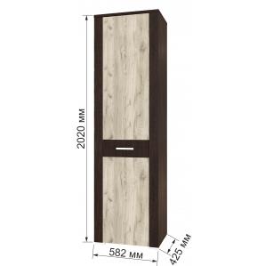 Шкаф пенал КЛ-05 Дуб серый/Венге Ш582 В2020 Г425