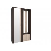 Шкаф с зеркалом и вешалкой КЛ-14 Дуб серый/Венге Ш1170 В2020 Г425