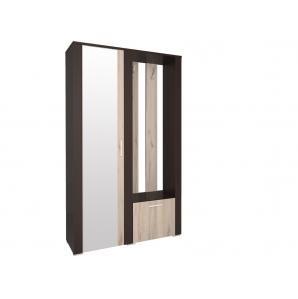 Шкаф с зеркалом и вешалкой КЛ-14 Дуб серый/Венге