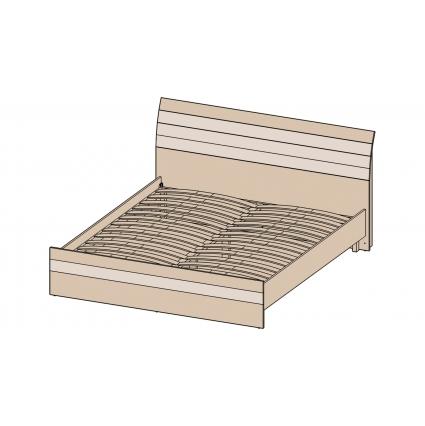 Кровать 180 КЛ-001-1 с основанием Дуб серый-Венге/ Ш1900 В999 Г2149