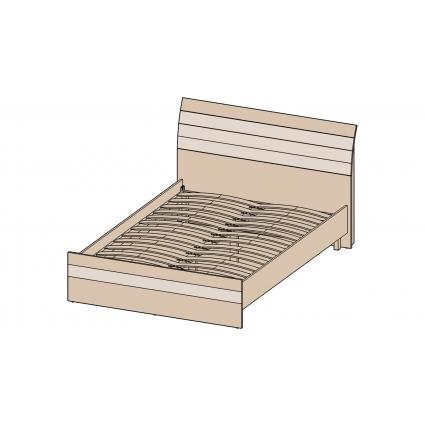 Кровать 140 КЛ-001-2 с основанием Дуб белый-Санома/ Ш1500 В999 Г2149