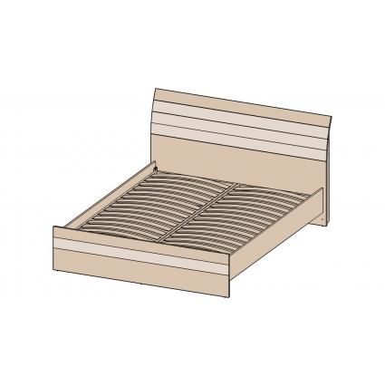 Кровать 160 КЛ-001 с основанием Дуб белый-Санома/ Ш1700 В999 Г2149