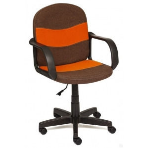 Кресло BAGGI коричневый/ оранжевый 960х460х620