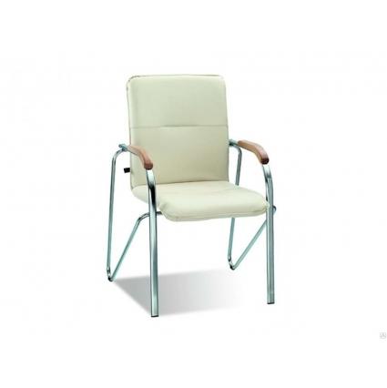"""Офисный стул для посетителей """"САМБА"""" экстра мукс кож/зам черный 530х460х930"""