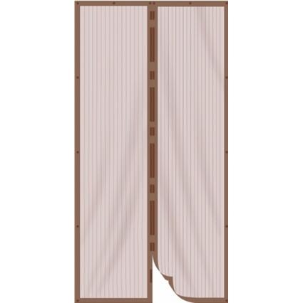 Антимоскитная сетка-шторка на дверь (Коричневая)