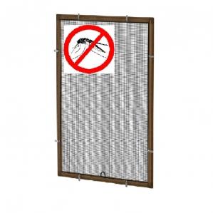 Противомоскитная сетка Коричневая на окна ПВХ (до 900х1700мм)