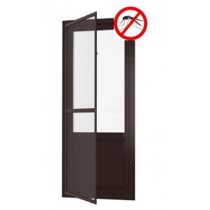 Противомоскитная дверь распашная на петлях (Коричневая)