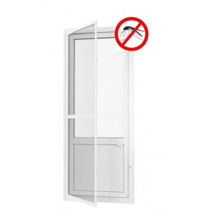 Противомоскитная дверь распашная на петлях (Белая)