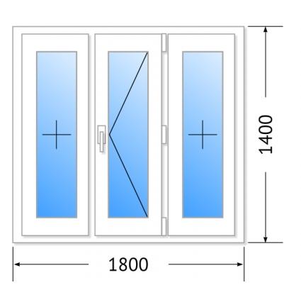 Окна ПВХ 1800х1400