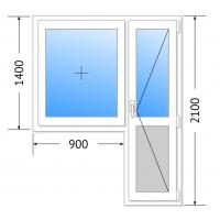Балконный блок Брюсбокс, 60мм, 3 камер
