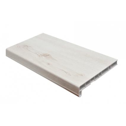 Подоконник ПВХ (Cristallit) Белый дуб глянцевый/ за кв.м.