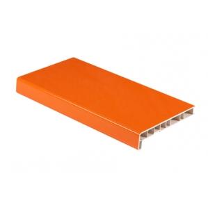 Подоконник ПВХ (Cristallit) Оранж глянцевый/ за кв.м.