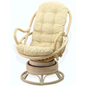 Кресло из ротанга 05/01 вращающееся (Белый)