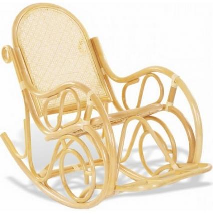 Кресло-качалка из ротанга 05/10B Коньяк
