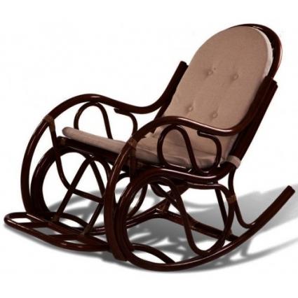 Кресло-качалка из ротанга 05/04B с подушкой Коньяк