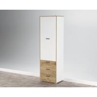 Шкаф SC-ШГ (Белый Платинум/ Дуб Золотой) Ш600 В2020 Г430