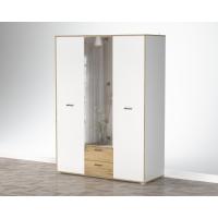 Шкаф комбинированный SC-ШК1 (Белый Платинум/ Дуб Золотой) Ш1500 В2020 Г600