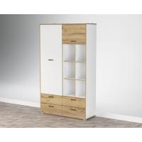 Шкаф комбинированный SC-ШК2 (Белый Платинум/ Дуб Золотой) Ш1200 В2020 Г430