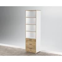 Шкаф комбинированный SC-ШК3 (Белый Платинум/ Дуб Золотой) Ш600 В2020 Г430