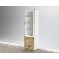 Шкаф с витриной SC-ШВ1 (Белый Платинум) Ш600 В2020 Г430