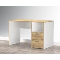Стол письменный SC-СП1 (Белый Платинум/ Дуб Золотой) Ш1200 В750 Г600