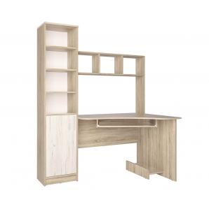 Стол компьютерный СК-005 (Дуб санома/Дуб белый) 1450х1820х900