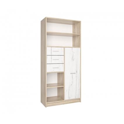 Шкаф комбинированный СК-021 (Дуб санома/Дуб белый) 800х1820х420
