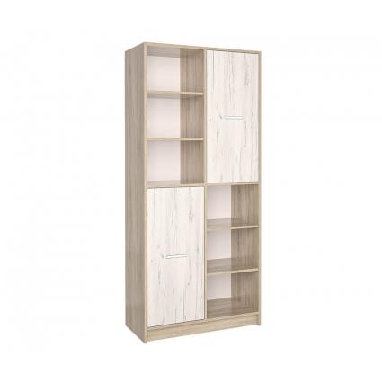 Шкаф комбинированный СК-022 (Дуб санома/Дуб белый) 800х1820х420