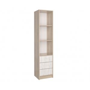 Шкаф-пенал СК-023 (Дуб санома/Дуб белый) 400х1820х420