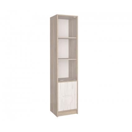 Шкаф-пенал с витриной СК-024 (Дуб санома/Дуб белый) 400х1820х420