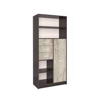 Шкаф комбинированный СК-021 (Венге/Дуб серый) 800х1820х420