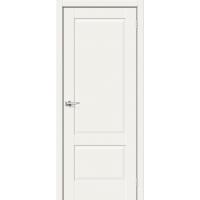 Дверь межкомнатная Прима-12 ПГ Hard Flex (Белый микс)