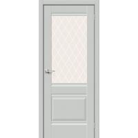 Дверь межкомнатная Прима-3 ПО Hard Flex (Серый микс)