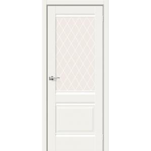 Дверь межкомнатная Прима-3 ПО Hard Flex (Белый микс)