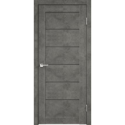 Дверь межкомнатная LOFT 1, Бетон темный