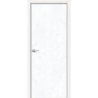 Дверь межкомнатная NEXT-Z (50AL)/ Snow Art + замок WC (Алюминиевая кромка с 4-х сторон)