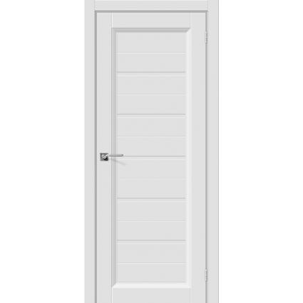 """Дверь межкомнатная """"Эмаль 51"""" Белый/ Черная вставка"""
