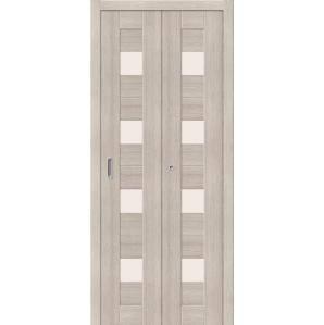 """Складная дверь-книга """"Амати 03"""" Капучино"""