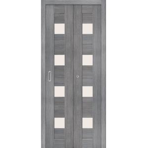 """Складная дверь-книга """"Амати 03"""" Грей"""