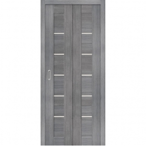 """Складная дверь-книга """"Амати 01"""" Грей"""